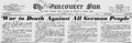 1940-04-23 - The Vancouver Sun - 'War to Death Against All German People'.png