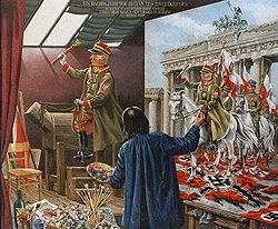 Edward Rydz-Śmigły als Sieger gemalt, in Berlin